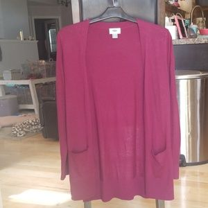 Old Navy Maroon cardigan with pockets